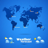 Weather forecast — Stock Vector