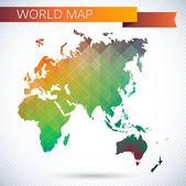 Eastern Hemisphere globe — Stock Vector