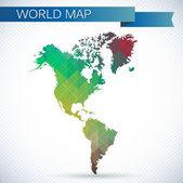 Western Hemisphere globe — Stock Vector