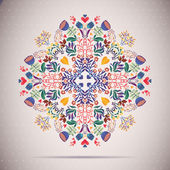Round Ornament FLORAL Pattern — Wektor stockowy