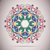 Round Ornament FLORAL Pattern — Stock Vector