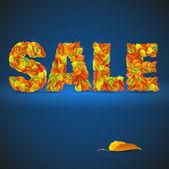 Autumnal discount — Stock Vector