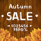 Autumn sale constructor — Vector de stock