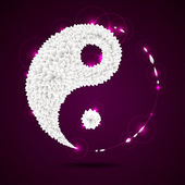 Ying-yang symbol — Stock Vector