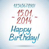 'Happy birthday' hand lettering — Stock Vector