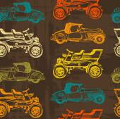 Vintage car seamless pattern — Stock Vector