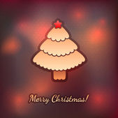 Gingerbread Christmas tree — Stock Vector