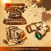 Set of vintage elements — Stock Vector