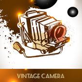Archiwalne zdjęcie aparatu — Wektor stockowy
