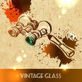 Vintage women's fashion glass — Stock Vector