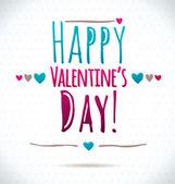 Happy Valentine's Greeting Card — Vettoriale Stock