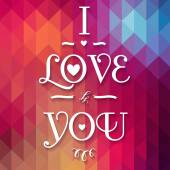 Typographical Background Illustration I LOVE YOU! — Stock Vector