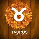 Taurus horoscope white sign — Stock Vector