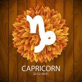 Capricorn horoscope white sign — Stock Vector