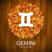 Gemini horoscope white sign — Stockvektor