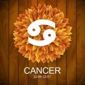 Cancer horoscope white sign — Stockvector