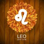 Leo horoscope white sign — Stock Vector