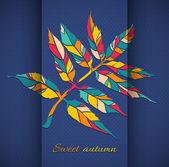 Autumn leaf — Stock Vector