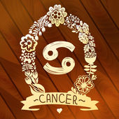 Dierenriem teken kanker — Stockvector