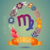 Zodiac sign VIRGO — Stock Vector