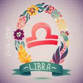 Zodiac sign LIBRA — Stock Vector