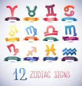 Zodiac Symbol icons — Stock Vector