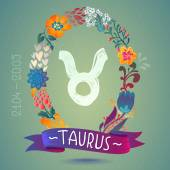 Zodiac sign TAURUS — Stock Vector