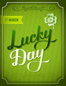 Lucky Day Party invitation — Stock Vector