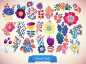 Elegance Flowers Big Pack — Stock Vector