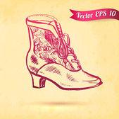 Vintage boot — Stock Vector