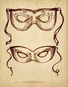 Maschera di carnevale ornato — Vettoriale Stock
