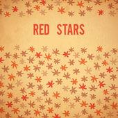Brushstrokes stars red background — Vettoriale Stock