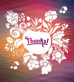 """Thanks"" card background — Vector de stock"