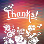 """""""Thanks"""" card background — Stock Vector"""