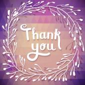 """""""Thank you"""" card background — Stock Vector"""