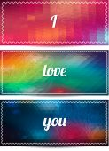 I LOVE YOU cards — Stock Vector