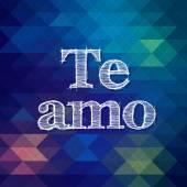 Te Amo lettering — Stockvector