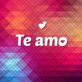 Te Amo lettering — Stockvektor