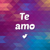 Te Amo lettering — Stock Vector