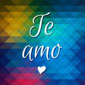 Te Amo lettering — Vector de stock