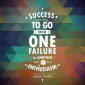 Quote of Winston Churchill — Stock Vector