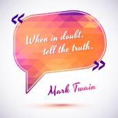 Quote of Mark Twain — Stock Vector