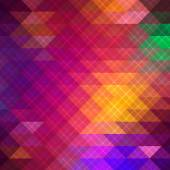 Geometric triangle rainbow background. — Stock Vector