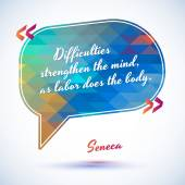 Quote of Seneca — Stock Vector