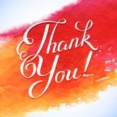 Thank you orange card — Stock Vector