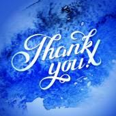 Thank you blue card — Stock Vector