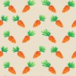 Eastern Carrot and Eggs Seamless Pattern. Carrots for Easter Bunny. Vector seamless texture with a lot of cartoon carrots — Stock Vector #67022241