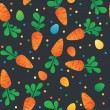 Eastern Carrot and Eggs Seamless Pattern. Carrots for Easter Bunny. Vector seamless texture with a lot of cartoon carrots — Stock Vector #67022247