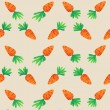 Eastern Carrot and Eggs Seamless Pattern. Carrots for Easter Bunny. Vector seamless texture with a lot of cartoon carrots — Stock Vector #67022253