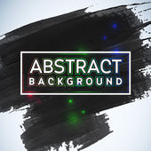 Abstract painted ink stroke background — Stock Vector